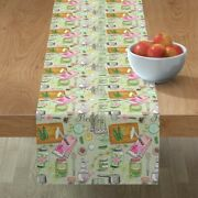Table Runner Pickles Cucumbers Canning Kitchen Utensils Cooking Cotton Sateen