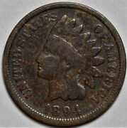 1894 Indian Head Cent  Us 1c Penny Coin  Flat Rate Shipping Lot 218
