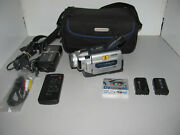 Sony Digital Handycam Dcr-trv15e Mini Dv Video Camera Tested And Working With Case