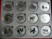 2008 To 2019 Australia Silver Lunar Ii Complete Set Of 12 One Ounce Coins