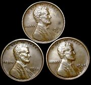 1910-s 1918-s 1924-s Lincoln Cent Wheat Penny ---- Nice Lot ---- T069