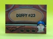 Danny Duffy 2011 Topps Personalized Leather Nameplate Mgl-dd Kansas City Royals