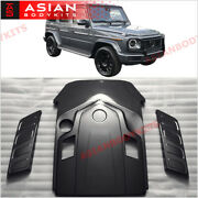 Dry Carbon Fiber Engine Covers Kit For Mercedes Benz W463a W464 G500 G550 2018+