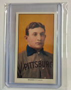 1909-11 T206 Honus Wagner Piedmont Back Reprint Card W/ Sleeve And Top Loader