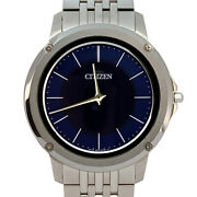 Citizen Ar5050-51la Eco Drive One Navy Stainless Steel Menand039s Solar Watch