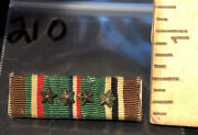 1/2andrdquo Wide Wwii European African Middle Eastern Eame 4 Star Ribbon Medal Bar Pin