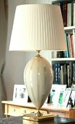 Table Lamp In Majolica Italian Ceramics Decorated With Leaf D'oro 24 K By