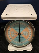 Vintage Baby/nursery Scale•light Blue/pink•american Family•infant Scale•tested