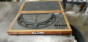 Starrett 224m 225-300mm Outside Micrometer Set With Standards In Case. Lot5