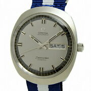 Omega Menand039s Seamaster Cosmic Antique Ss Gray Automatic Day-date Watch Excellent