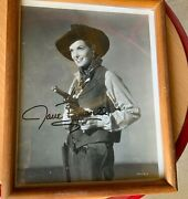 Jane Russell Signed 8x10 Photo Autograph Photograph In Cowgirl Outfit