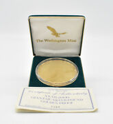 2000 Proof Sacagawea 4 Oz .999 Silver Round Coin With 24kt Gold Plating W/ C.o.a