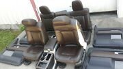 10 Ford F-150 Platinum Edition Brown Leather Seats Door Panels Center Console