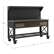 Whalen 72 Industrial Metal And Wood Workbench