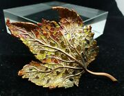 Wow Jay Strongwater Fall Colored Leaf Tray Dish Copper Toned Excellent Mint