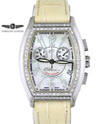 Ladies Elini New Yorker Xl Chronograph Diamond Dc-454 Mother Of Pearl Dial 36mm