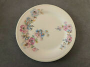 Edwin Knowles Kno12 Semi Vitreous Pink And Blue Flowers - 9-1/4 Luncheon Plate