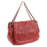 Coco Mark Flap Chain Shoulder Bag Women And039s Razor Red Number 13