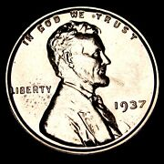 1937 Proof Lincoln Cent Wheat Penny ---- Gem Proof++ Details ---- T212