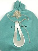 And Co. Out Of Retirement Large Loop Pendant Sterling Silver 28-30 Chain