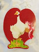 Vintage Lapiccolo Eureka Valentine Sweetheart Day Decorations Die Cut White Duck