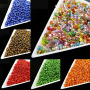 800pcs 2mm Round Faceted Crystal Glass Spacer Beads For Handmade Jewelry Making