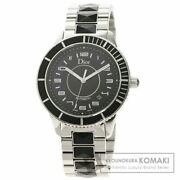 Christian Dior Cd115510 Crystal Date Watch Stainless Steel Menand039s Automatic W/box