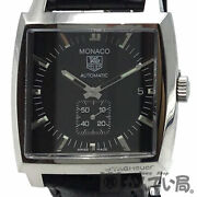 Tag Heuer Monaco Caliber 6 Ww2110-0 Used Watch Small Seconds Smoseco Ss Men's Gd
