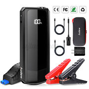 Audew Car Jump Starter 2000a Peak 20000mah For All Gas Engines Up To 8.5l Black