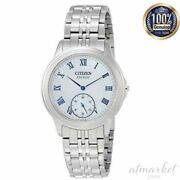 Citizen Exceed Watch Aq5000-56d Men's Silver Analog Round Face Eco Drive