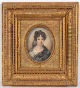 Jean Claude Rumeau Portrait Of A Young Lady High Quality Miniature 1825
