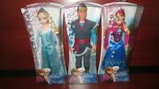 New Disney Frozen Sparkle Anna And Elsa Of Arendelle And Kristoff Doll 2013 Release