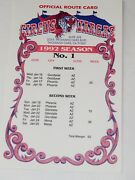 1992 Circus Vargas Full Official Route Cards No.1-no.43 7891 Miles