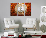Afterglow Clock Wall Designer Art Watches Wall-mounted Painting American Modern