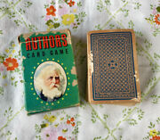 Vintage Whitman Authors Card Game Complete Deck W/rules 059