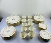 60 Pieces Lenox Cinderella Old Pattern V-308 Gold Trim 6 Pieces Place Setting