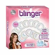Blinger Brilliance Color Refill Set 180 Round Gems In A Variety Colors 12