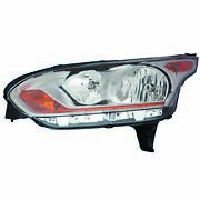 New Headlight Assembly Left Fits 2014-2018 Ford Transit Connect Dt1z13008a