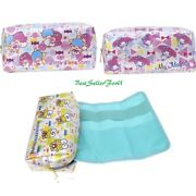Sanrio 2-in-1 Pouch Pen Pencil Holder Makeup Tool Bag W/ Removable Roll Up Case