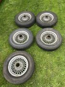 Series 1 Jaguar E Type Wire Wheels Set Of 5 Original With Spinners