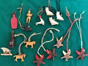 Vintage Cracker Jack Gumball Machine Charms Trinkets Lot Of 16 1930's-1940's