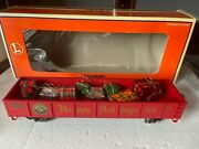 Lionel Christmas Happy Holiday Train Gondola With Presents O Scale Perfect 9820