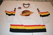 Kirk Mclean Signed 94 Cup Final Vancouver Canucks Jersey With Playoff Crest