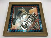 Rare Coyote Imported Tequila Mirror Style Collectible Tavern Bar Decor Mirror