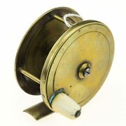 Chas Farlow And Co Brass Plate Wind Reel 3 1/4 Inch