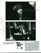 2000 Press Photo Director Nancy Meyer, Mel Gibson On The Set Of What Women Want