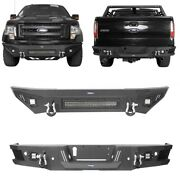 Replacement Steel Front Or Rear Bumper W/led Light And D-ring For Ford F-150 09-14