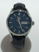 Tag Heuer Carrera Calibre 5 War201e Automatic Winding Analog Leather Men's Watch