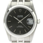 Tudor Oyster Date Stainless Steel Self-winding Black 74000n Menand039s Watch