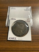 1806-p Draped Bust Half Dollar 50c Very Fine Vf Cleaned Type 2, Large Eagle